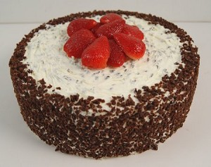 Fake Food Chocolate Strawberry Cake
