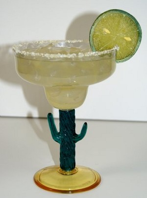 Fake Food Acrylic Cactus Glass Margarita
