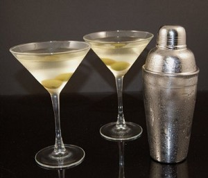 Fake Food Martini Set Frosted