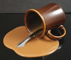 Fake Food Spilled Coffee