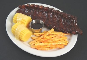 Fake Food Barbeque Ribs Platter