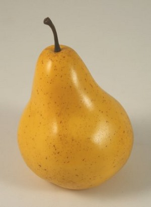 Fake Food Bartlett Yellow Pear - One Piece