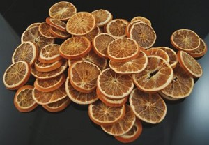 Fake Food Natural Orange  Slices Preserved And Dried Botanical (bag of 42)