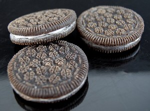 Fake Food Chocolate Sandwich Cookies