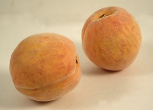 Fake Food Large Peach (pack of 2)