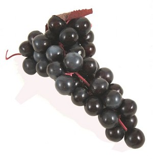 Fake Food Grapes Purple - One Bunch
