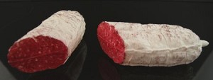 Fake Food Half White Cut Salami's pack of 2