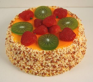 Fake Food Strawberry Kiwi Cheesecake