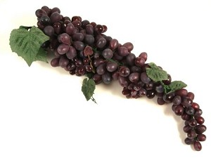Fake Food Super Long Purple Grape Cluster