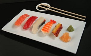 Fake Food 5-piece Assorted Sushi Plate