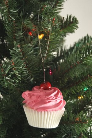Fake Food Pink Frosted Cupcake Ornament
