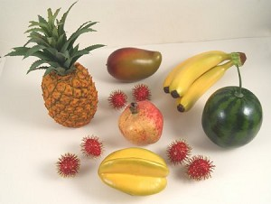 Fake Food Tropical Fruit Assortment (12 Pc.)