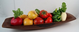 Fake Food Vegetable Assortment on Trencher Bowl