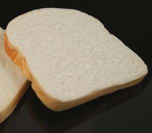Fake Food White Bread Slice - One Piece