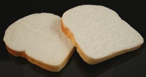 Fake Food White Bread Slices (pack of 2)
