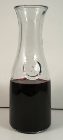 Fake Food Red Wine In Heavy Glass Carafe