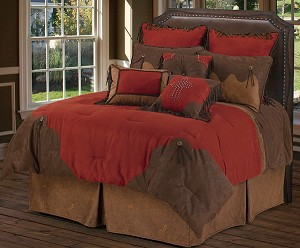 Red Rodeo Luxurious Western Comforter Bedding Set