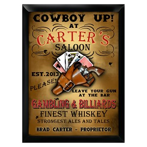 Personalized Saloon Pub Sign
