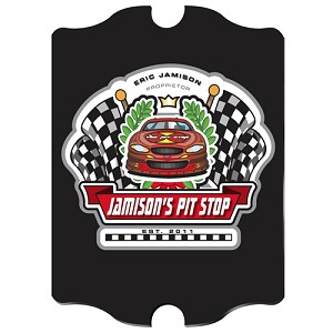 "Vintage Personalized Racing ""Pit-Stop"" Pub Sign"
