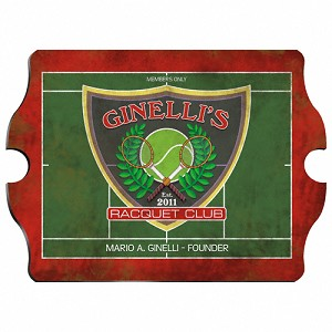 Vintage Personalized Racquet Club Pub Sign