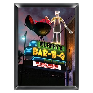 Personalized Marquee BBQ Traditional Sign