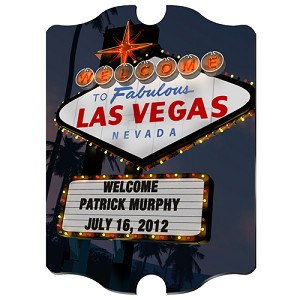 Personalized Nighttime Vegas Vintage Sign