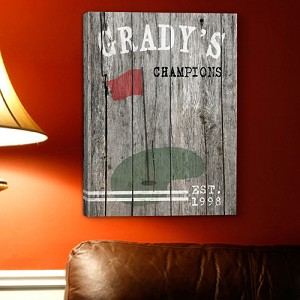 Personalized Golf Man Cave Canvas Print