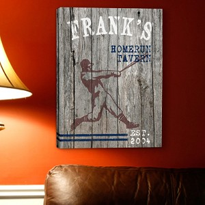 Personalized Homerun Man Cave Canvas Print