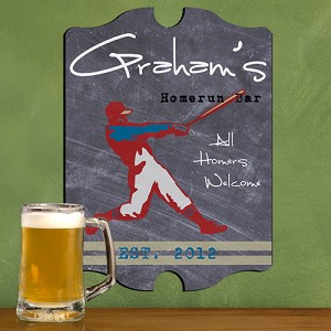 Vintage Personalized Homerun Tavern Sign