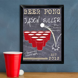 Personalized Beer Pong Specialist Traditional Pub Sign
