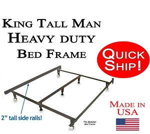 King Tall-Man Size Quick Ship Metal Bed Frame