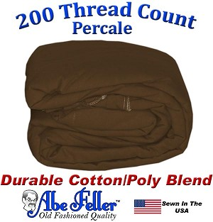 Three Quarter Brown Duvet Cover Percale Cotton Poly Blend