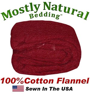 Flannel Duvet Cover Queen Size Burgundy Color
