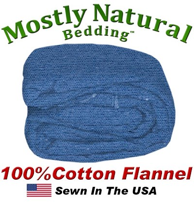 Flannel Duvet Cover Dorm Size Denim Color