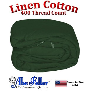 Linen Duvet Cover Twin XL Size Hunter Green Color