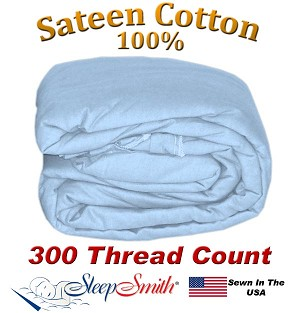 Sateen Duvet Cover XXL Twin Size Light Blue Color