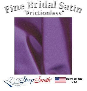 Satin Duvet Cover XL Queen Size Purple Color