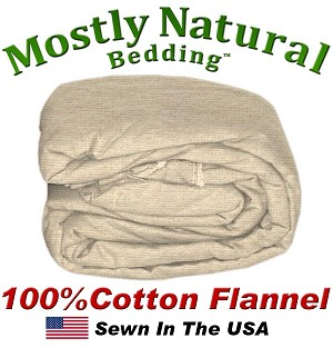 Flannel Duvet Cover Olympic Queen Size Natural Color