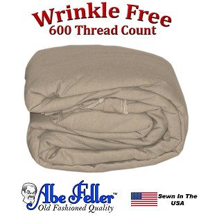 Wrinkle Less Duvet Cover Dorm Size Taupe Color