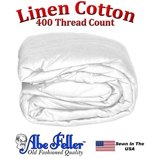 Linen Duvet Cover XL Full Size White Color