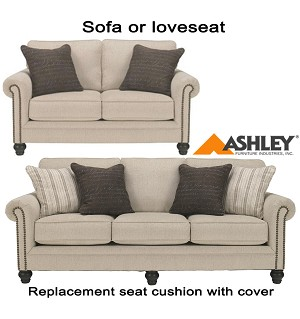 ashley milari replacement cushion cover 1300038 sofa or 1300035 love. Black Bedroom Furniture Sets. Home Design Ideas