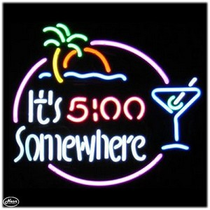 It's 5:00 Somewhere Neon Bar Sign