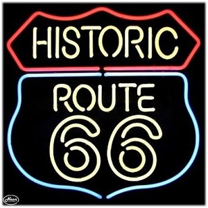 Historic Route 66 Neon Bar Sign