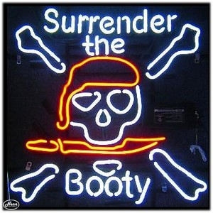 Surrender the Booty Neon Bar Sign