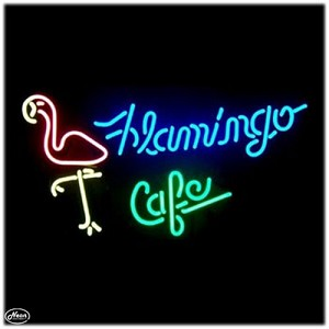 Flamingo Café Neon Bar Sign