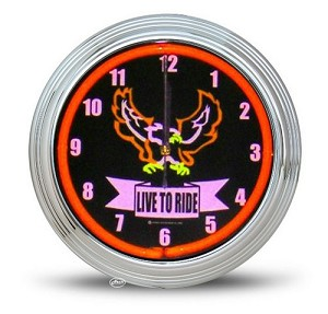 Live to Ride Neon Clock