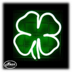 Clover Neon Sculpture
