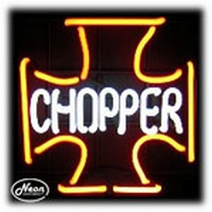 Iron Chopper Neon Sculpture