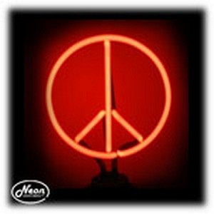 Peace Neon Sculpture