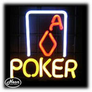 Poker Ace Neon Sculpture